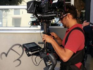 Steadicam running a wireless teleprompter from Neil Tanner in San Francisco