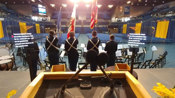 POV commencement teleprompter